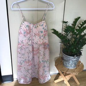 Pastel floral summer dress